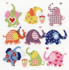 Bothy Threads Cross Stitch Kit-ligeramente Dotty elefantes