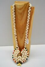 SUPERBE GRAND COLLIER en COQUILLAGES ANNEES 1970 SEVENTIES COLLECTION VINTAGE N2