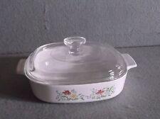 Corning Ware AUTUMN MEADOW Casserole Dish Bakeware 1.4 liter  A-8-B PYREX  LID