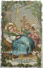 Glory be to God in the Highest, Vintage German Paper Lace Holy Devotional Card