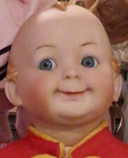 """Antique 16"""" German Bisque RARE Hertel Schwab 172 Googlie Toddler Doll Perfect"""