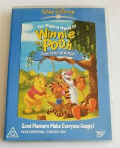 The Magical World Of Winnie The Pooh Growing Up with Pooh Kids PAL DVD R4 VGC