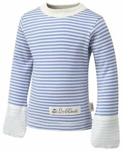 ScratchSleeves   PJ tops with integrated mitts   Imperfects   Stripes   6m to 4y