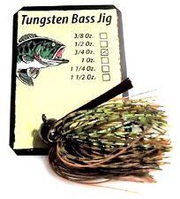 New listing Durhams Tackle- Tungsten Football Bass Jig 3/4oz Ozark Craw
