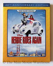 Disney Herbie Rides Again Love Bug Sequel on Blu-ray Volkswagen Beetle Movie