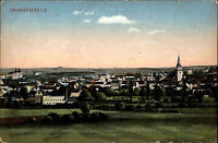 Frankenberg Sachsen ~1910/13 alte color Ansichtskarte Fernansicht Gesamtansicht