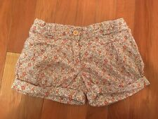 Girls French Boutique Cyrillus Flowers Design Bubble Summer Shorts Size 6A/ 114