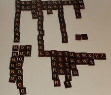 Complete set of 100 wooden Scrabble Letter Tiles Crafts Game Learning Alphabet
