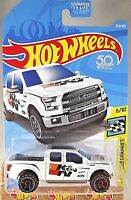 2018 Hot Wheels #203 HW Speed Graphics 6/10 '15 FORD F-150 White w/Black OH6 Sp