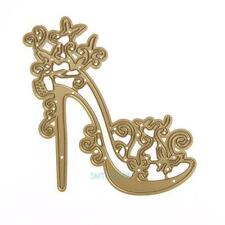 Gold Wedding Shoes Metal Cutting Dies Stencil For DIY Scrapbook Album Paper Card