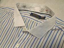 Polo Ralph Lauren 100% Cotton Long Sleeve Blue Stripe Sport Shirt NWT 2XB $145