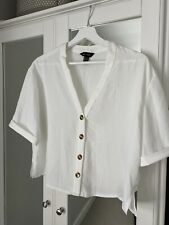 New Look White Button Front Top 12