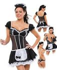 Costume Porno Chacha Set Of French Maid Dress Sexy Thong And Cap