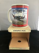 Supermarine Spitfire V Retro Art Ceramic Mug in Gift Box Plane Aeroplane
