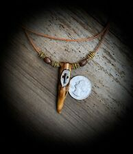 New ListingCross Faith Jesus Hand Carved Whitetail Deer Antler Necklace