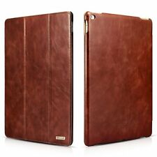 Vintage Genuine Leather Case for Apple iPad Pro 12.9 inch Folio Flip Stand Cover