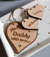 PERSONALISED GIFTS FOR HIM FATHER'S DAY GIFT KEYRING DADDY GRANDAD UNCLE DAD