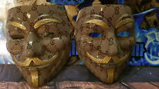 Designer! Anonymous CUSTOM V VENDETTA MASK Guy Fawkes protest hack Mask