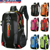 40L Large Hiking Backpack Outdoor Camping Travel Waterproof Nylon Bag Rucksack