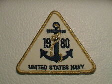 1980 UNITED STATES NAVY W/ BOAT ANCHOR INSIGNIA MILITARY PATCH NEW !