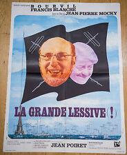 Affiche de cinéma : LA GRANDE LESSIVE de JEAN-PIERRE MOCKY
