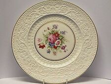"""Large 11"""" Wedgwood & Co Ltd Hand Painted Floral Cabinet Plate with Raised Design"""