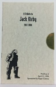 RARE! Tribute To JACK KIRBY 1917-1994 Pro/Con 2 Book 4/21/1994 Sealed DARK SEID