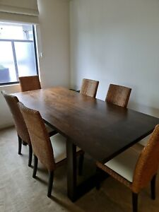 Coco Republic Dining Set - Table & 8 x Chairs