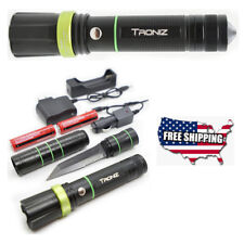 Tactical Flashlight Knife Blade Zoomable LED Survival Home Outdoor Glass Breaker