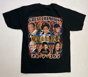 VINTAGE Black History African American T-shirt Men Medium MLK Tiger Woods Rap