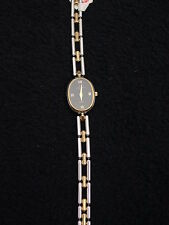 Vintage French Michel Herbelin Ladies Stainless Gold Bracelet Watch