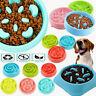 Pet Puppy Dog Cat Feeding Bowl Food Water Dish Feeder Anti Choking Slow Eating