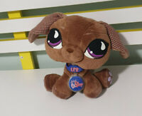 LITTLEST PET SHOP HASBRO  PLUSH TOY SOFT TOY 20CM TALL BROWN DACHSHUND 65036