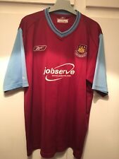 *XL* 2003/05 WEST HAM Home Reebok Football Shirt