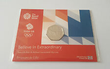 50p Rio Olympic Team GB 2016 Coin United Kingdom Uncirculated Sealed UK