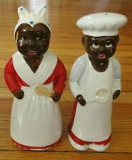 "VINTAGE AMERICANA HAND PAINTED CERAMIC  8"" SALT & PEPPER SHAKERS"