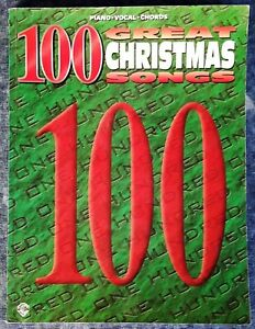 100 GREAT CHRISTMAS SONGS - 208 PG SONGBOOK - PIANO / VOCAL / CHORDS - WB - 1995