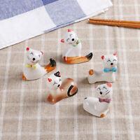 2X Lucky Cat Chopstick Rest Holder Rack Fork Knives Spoon Stand Home Bar Decor