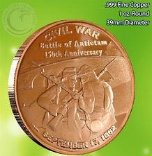 """Civil War """"Battle of Antietam"""" 1oz .999 Copper Round Civil War Collection"""