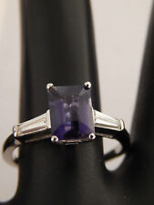Platinum 1.53 tcw Tanzanite D-Block AAA Diamond Ring E/VS Engagement Top Quality