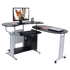 New Expandable L-Shaped Computer Desk PC Table Corner Workstation Home Office