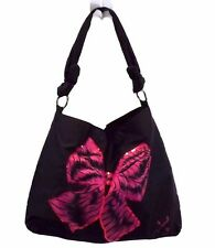 Vera Wang Lovestruck Women's Tote Shopper Handbag Bag Purse, Black Nylon XL