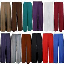 Frauen Plus Size Ausgestelltes Palazzos Hosen mit weitem Bein Stretch Pants
