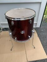 "Free P&P. 16"" Sonor Floor Tom w Legs. Wine Finish. 16x15"" FT009113"
