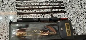 """NOS Mitchell Outback Deluxe Spinning Fishing Travel 6 Piece Rod 6' 6"""" # OB660MS"""