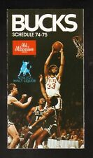 Milwaukee Bucks--Kareem Abdul-Jabbar--1974-75 Schedule--Old Milwaukee/Schlitz