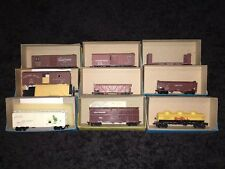 Lot Of 9 Athearn HO Freight Cars 40' Boxcar Pulp Car Coal Hopper Union Pacific