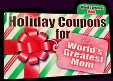 Holiday Mom 12 Coupon Gift Book Stuffing Stuffer Hug Laundry clean Breakfast NEW