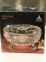 Vintage Lead Crystal Footed Bowl. Handcut. Boxed. West Germany 16x8.5 Cm.