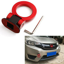Universal JDM Red Ring Track Racing Sport Style Tow Hook Look Decoration